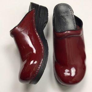 Dansko Open Back Leather Clogs